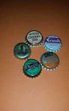 5 RARE diff CORK BOTTLE CAPS Donald Duck Felix The Cat Big Cheif lemmy Frostie!