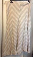 LADIES EAST LINEN SKIRT Beige Diagonal Beaded Size14-16Vgc