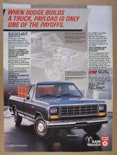 1984 Dodge Ram D250 Pickup blue truck color photo vintage print Ad
