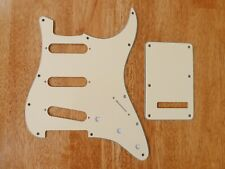 PICKGUARD AND TREMOLO COVER SET AGED WHITE 3 PLY FOR STRATOCASTER