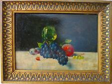 Hermann Koch (1856-1939) Jugendstil Antike Ölgemälde Stillleben mit Früchten