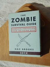 The Zombie Survival Guide Deck By Max Brooks 50 Flash Card Set Of Survival Tips