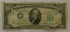TEN ($10) DOLLAR 1950 Series Federal Reserve Note ~ SF ~ ERROR OFF CENTER