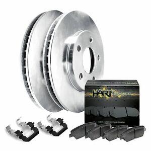 Fits 2013-2017 Nissan Sentra Front Blank Brake Rotors+Ceramic Brake Pads