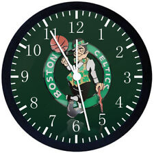 Boston Celtics Black Frame Wall Clock Nice For Decor or Gifts W165