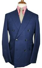 Bnwt HACKETT double-breasted blue wool mix blazer 40L / EU50L RRP£650 LORO PIANA