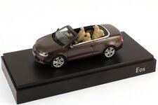 VW EOS II SPORT TSI TDI 2012 FACELIFT BLACK OAK BROWN 1:43 KYOSHO (DEALER MODEL)