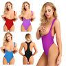 One Piece High Cut Leotard Bodysuit Sexy Women Open Bust Swimwear Lingerie Thong