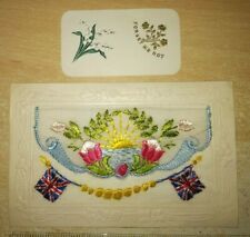 1st World War French Silk Post Card, Ocean , Lovely Condition!