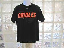 Majestic Mlb Baltimore Orioles Baseball Black T Shirt Size Men'S Large