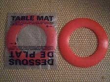 D-SIGN O FRANCE sottopentola silicone/dessous de plat/table mat  ROSSO  rotondo