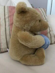 "Gund Classic Disney Winnie the Pooh Musical Bear 9""  Plays Theme Song RARE Snout"
