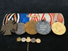MEDAL BADGE GERMAN AUSTRIAN WW1 GROUP OF 5 MEDALS + ASSOCIATED STICKPIN DEVICE