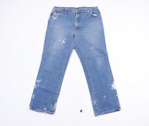 Vtg 80s Streetwear Mens 38x30 Thrashed Straight Leg Denim Jeans Pants Blue USA