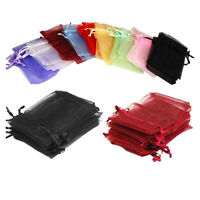 50Pcs Organza Jewelry Gifts Drawable Box Wedding Gift Candy Mini Pouch Bag Newly