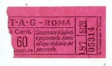 BIGLIETTO TRAMVIA  ELETTRICA  ATAG  ROMA  CM  60