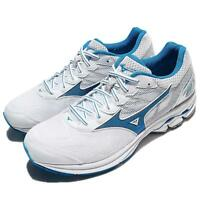 Mizuno Wave Rider 21 White Blue Men Running Shoes Trainers Sneakers J1GC18-0304