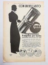 Pubblicità 1932 GIBBS SAPONE BARBA UOMO SOAP MILANO old advert publicitè werbung