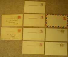 Lot 4  Cent Postcards Abe Lincoln Unused 2 Cent Used 6 & 9 Cent FREE SHIP
