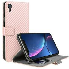 iPhone XR Protective Leather Wallet, Rose Gold - UNBRANDED