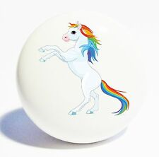 RAINBOW REARING HORSE HOME DECOR CERAMIC KITCHEN  KNOB DRAWER CABINET PULL