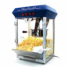 Paramount 8oz Popcorn Maker Machine - New Upgraded 8 oz Hot Oil Popper [Blue]