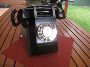 Vintage PMG Black Bakelite 300 Series Wall Telephone c.1950's