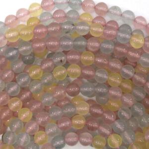 """6mm morganite jade round beads 15"""" strand"""