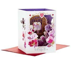 Hallmark Paper wonder Valentine's Day Card Pop Up Card Love Birds