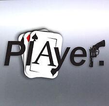 Player Cards Ace car Vinyl Sticker 210 x 100 mm Unit Gun weed funny bacon Pimp
