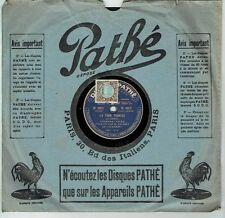 78T SAPHIR 26cm DALBRET Alhambra Disque Phono TOUR POINTUE Chant PATHE 4812 RARE