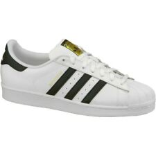 new styles af70e 0a377 Adidas Superstar Original C77124 Negro Blanco Trainers Mens tamaño 8