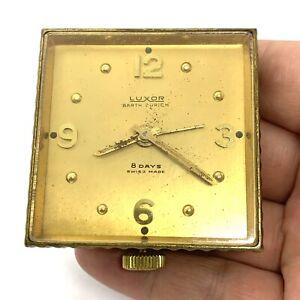 Vintage Luxor Barth Zurich 8 Day Alarm Clock. Swess.