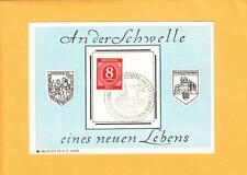Postwar Anti Nazi Memory Card Youth On The Border of a New Life Meissen 1947 Z83