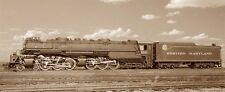 OLD WESTERN MARYLAND RAILROAD 1203 STEAM TRAIN LOCOMOTIVE FREIGHT ENGINE PHOTO