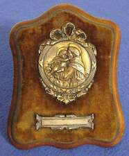 ANTIQUE FRENCH ART NOUVEAU ST. ANTHONY BABY BAPTISMAL PLAQUE SIGNED: TSCHUDIN