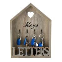 AU Wooden Keys Box Storage Hooks Holder Organizer Wall Mounted Hanging Cabinet