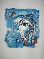 "Lithographie Originale de Jean marie GUINY   ""  Hera  """