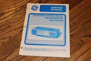 Vintage  GE CM chasis TV AM/FM STEREO SERVICE MANUAL