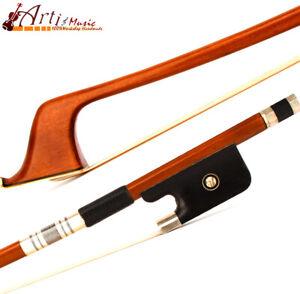 5Star Master French Style Pernambuco Double Bass Bow 3/4 Ebony Frog Stiff 126g