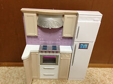 2007 Barbie Doll My House Fold Up Dollhouse Kitchen Replacement Wall Furniture