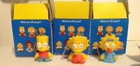 "Kidrobot The Simpsons Keychains Series 1 Bart Lisa & Maggie 1.5"" 3D Figures"