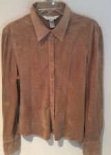 OUTFIT PETITE JPR Polyester Suede Large Long Sleeve Shirt Tan