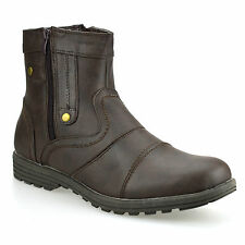 Zip Synthetic Leather Boots for Men