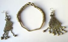 Ancient Old Rare Silver MIx Metals Tribal Woman Necklace Earrings Jewelry