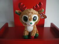 Ty Beanie Boos RED ALPINE reindeer 6 inch NWMT. NEW - CHRISTMAS BEANIE BOO..