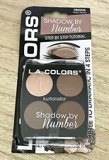 L.A. Colors Shadow By Number BRAINY BEAUTY Eyeshadow 4-Pan Palette NEW