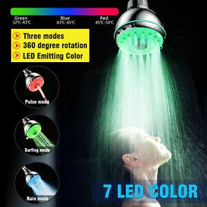 LED Shower Head 7 Colors Shower Head Hand Shower Light Colour Changing Shower Head DE