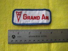 Vintage Pontiac Grand Am Hat Jacket Patch