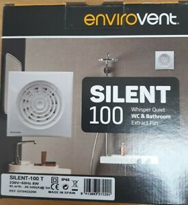 """Envirovent SIL100T """"Silent"""" Extractor Fan for Bathroom or Toilet"""